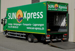 Transport mit Sun Xpress